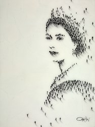 Queen of England   by Craig Alan -  sized 30x40 inches. Available from Whitewall Galleries